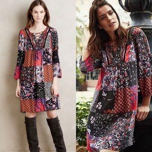 Anthropologie One September Arcata Patchwork Dress